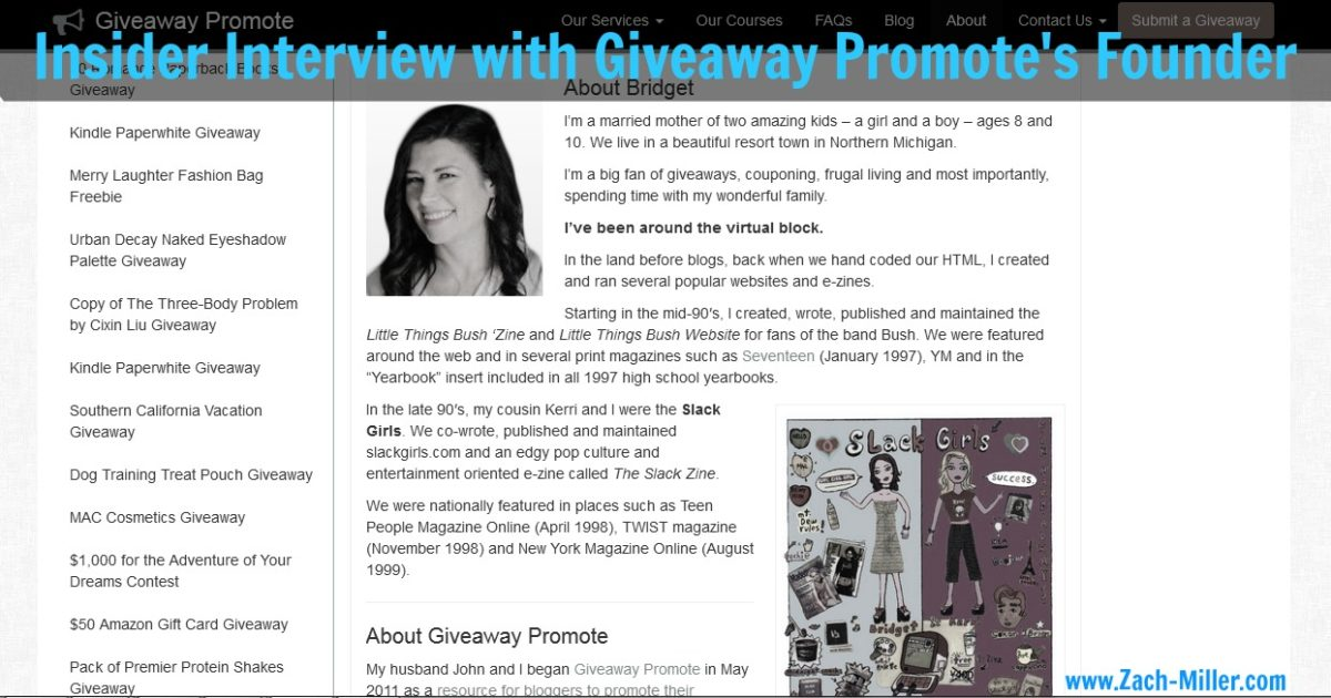 Insider's Interview with Giveaway Promote's Founder