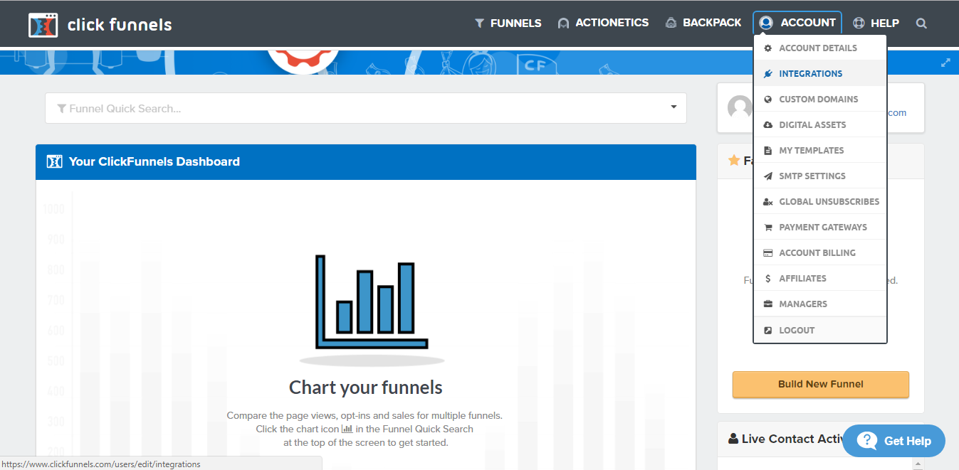 Clickfunnels Account Integrations