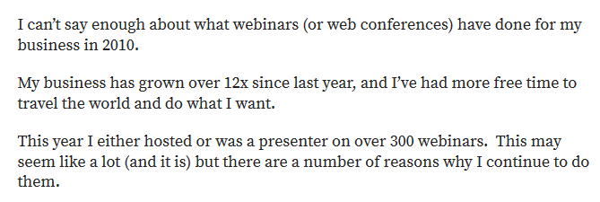 Lewis Howes on webinars